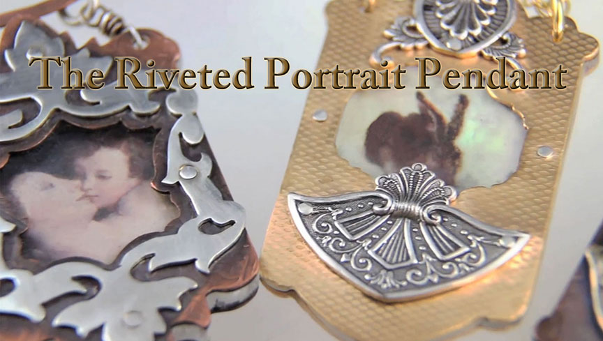 Riveted Portrait Pendant